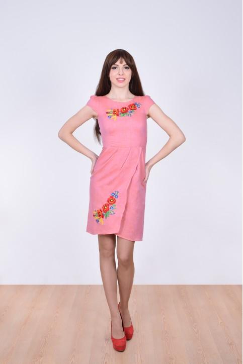 Купити вишиту сукню Полісся (рожева) в Україні від виробника Галичанка фото 1