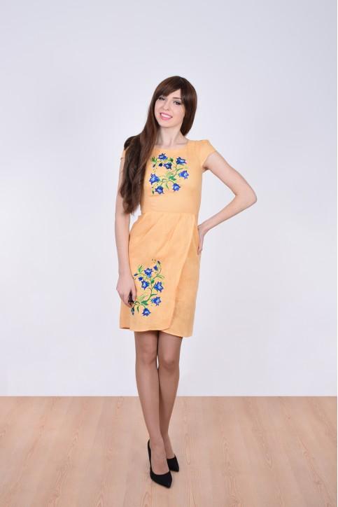 Купити вишиту сукню Дзвінка (жовте) в Україні від виробника Галичанка фото 1